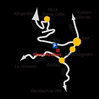 plan d'acces au chateau d'andlau