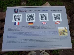 panneau audio guide du château d'andlau