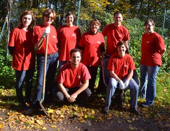 l'équipe de Lilly travaille au chateau d'Andlau